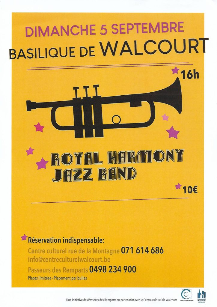 Concert Royal Harmony Jazz Band – 5/09 16h. – Basilique de Walcourt